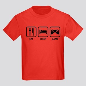 Eat Sleep Game Kids Dark T-Shirt